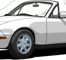 Mazda MX-5 Miata MK1 Crystal White Sticker
