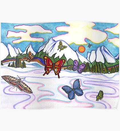 Butterflies In Winter Poster