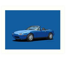 Mazda MX-5 Miata MK1 Mariner Blue Art Print