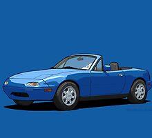 Mazda MX-5 Miata MK1 Mariner Blue by DigitalCel