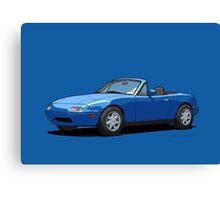 Mazda MX-5 Miata MK1 Mariner Blue Canvas Print