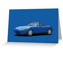 Mazda MX-5 Miata MK1 Mariner Blue Greeting Card