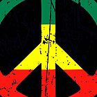 Rasta Peace and love - Distressed by notonlywaves