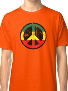 Rasta Peace and love - Distressed Classic T-Shirt
