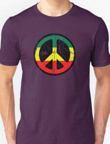Rasta Peace and love - Distressed Unisex T-Shirt