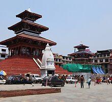 Durbar Square, Kathmandu. by John Dalkin