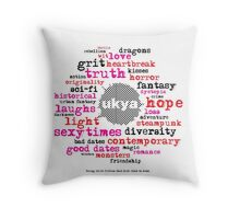 UKYA: wit, grit, love, loss Throw Pillow