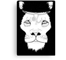 Leo (Black) Canvas Print