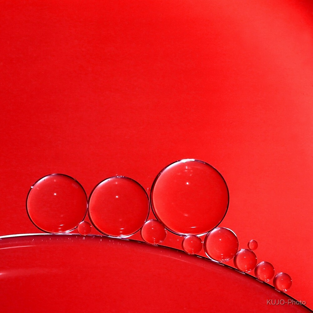 Red Bubbles by KUJO-Photo