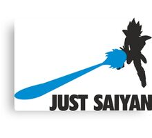 Just Saiyan T-shirt  Canvas Print