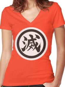 Ryuball !!! Women's Fitted V-Neck T-Shirt