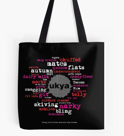 UKYA: telly, Tescos, trackie bums Tote Bag