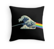 Wave refraction Throw Pillow