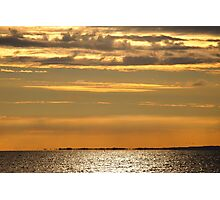 Golden sunset over the ocean Photographic Print