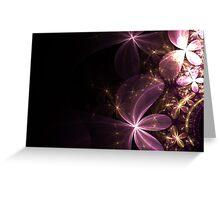 Dark Floral Dreams Greeting Card