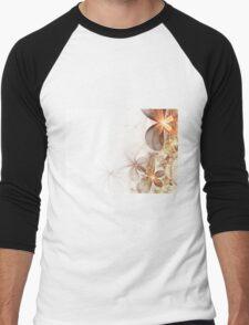 Soft Fractal Flowers Men's Baseball ¾ T-Shirt