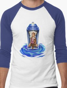 11th Doctor with Blue Phone box in time vortex Men's Baseball ¾ T-Shirt