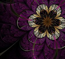 Dark Fractal Flower by KeilaNeokow