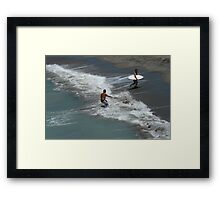 Awesome Wave Dude! Framed Print