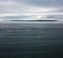 dark island fog flow 2, Puget Sound by Christopher Barton