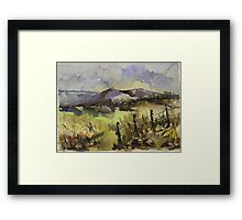 Sunrise over a winter landscape Framed Print