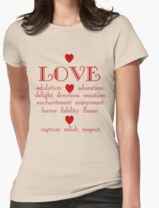 Many Faces of Love Womens Fitted T-Shirt