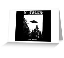 X-Files I Want To Believe Greeting Card