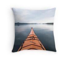 Waldo Lake kayak, Oregon Throw Pillow