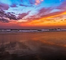 Sunset at Byron by Julia Harwood