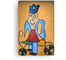 """The Police Officer"" Canvas Print"