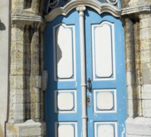 Arched Blue and White Door Sticker