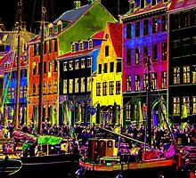 Copenhagen. Nyhavn Colors II by Igor Shrayer