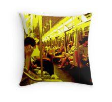 On the Subway 2 Throw Pillow