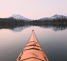 Sparks Lake kayak, Oregon by Christopher Barton