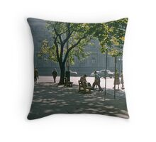 Paris end of Collins Street Melbourne 19570121 0005 Throw Pillow