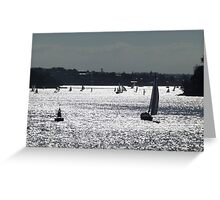 Title Boats on Sydney Harbour Greeting Card