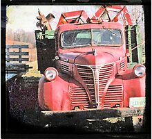 Red Fargo Photographic Print
