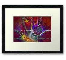 Rainbow Fractal 12 Framed Print