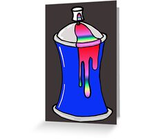 Spray Can Greeting Card