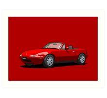 Eunos Roadster MK1 Classic Red Art Print