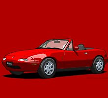 Eunos Roadster MK1 Classic Red by DigitalCel
