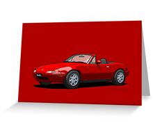 Eunos Roadster MK1 Classic Red Greeting Card