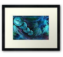 Blue Planets Fractal 14 Framed Print