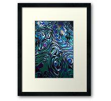 Blue Green Fractal 17 Framed Print