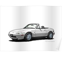 Eunos Roadster MK1 Crystal White Poster