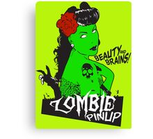 Zombie Pinup #2 Canvas Print
