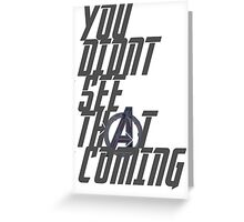Quicksilver's quote. Greeting Card