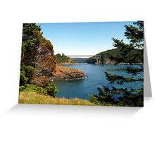 Deception Pass Bridge Seven Greeting Card