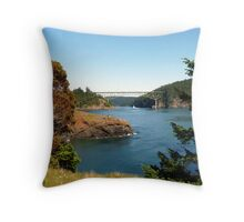 Deception Pass Bridge Seven Throw Pillow