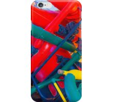 metal veins inside human body. electricity museum iPhone Case/Skin